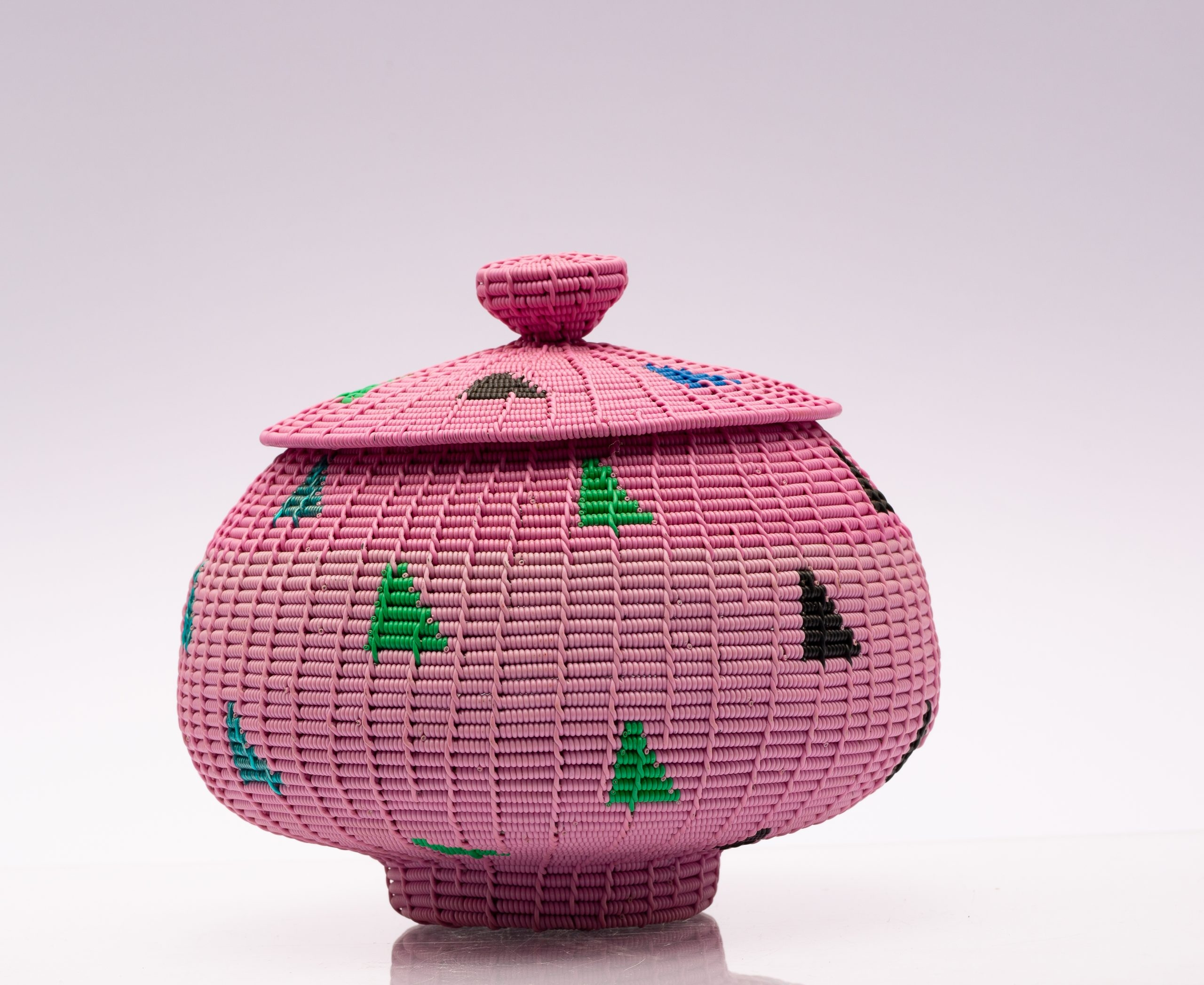 Pink Alfred Ntuli Collection wire basket