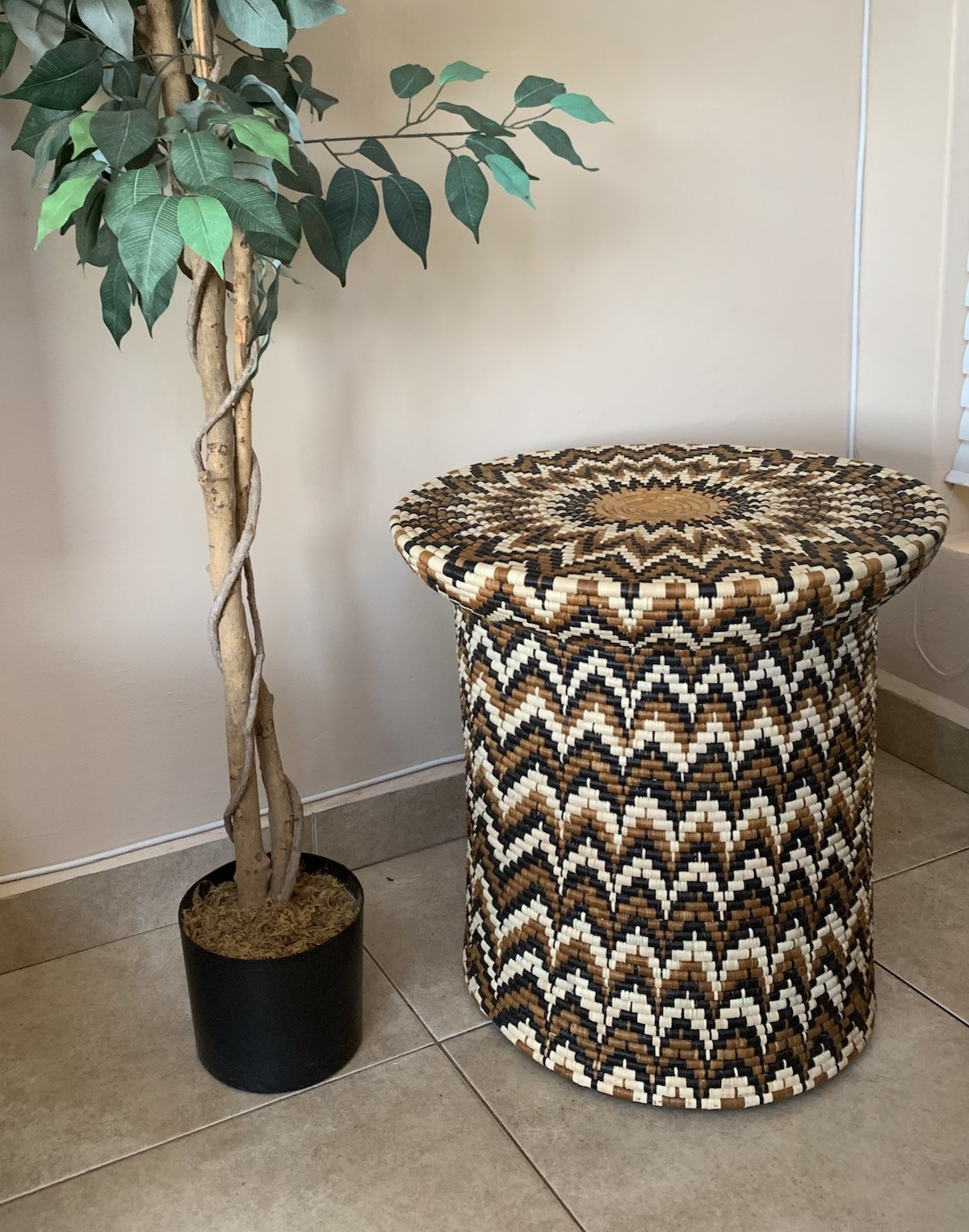 Ilala woven brown white and black table