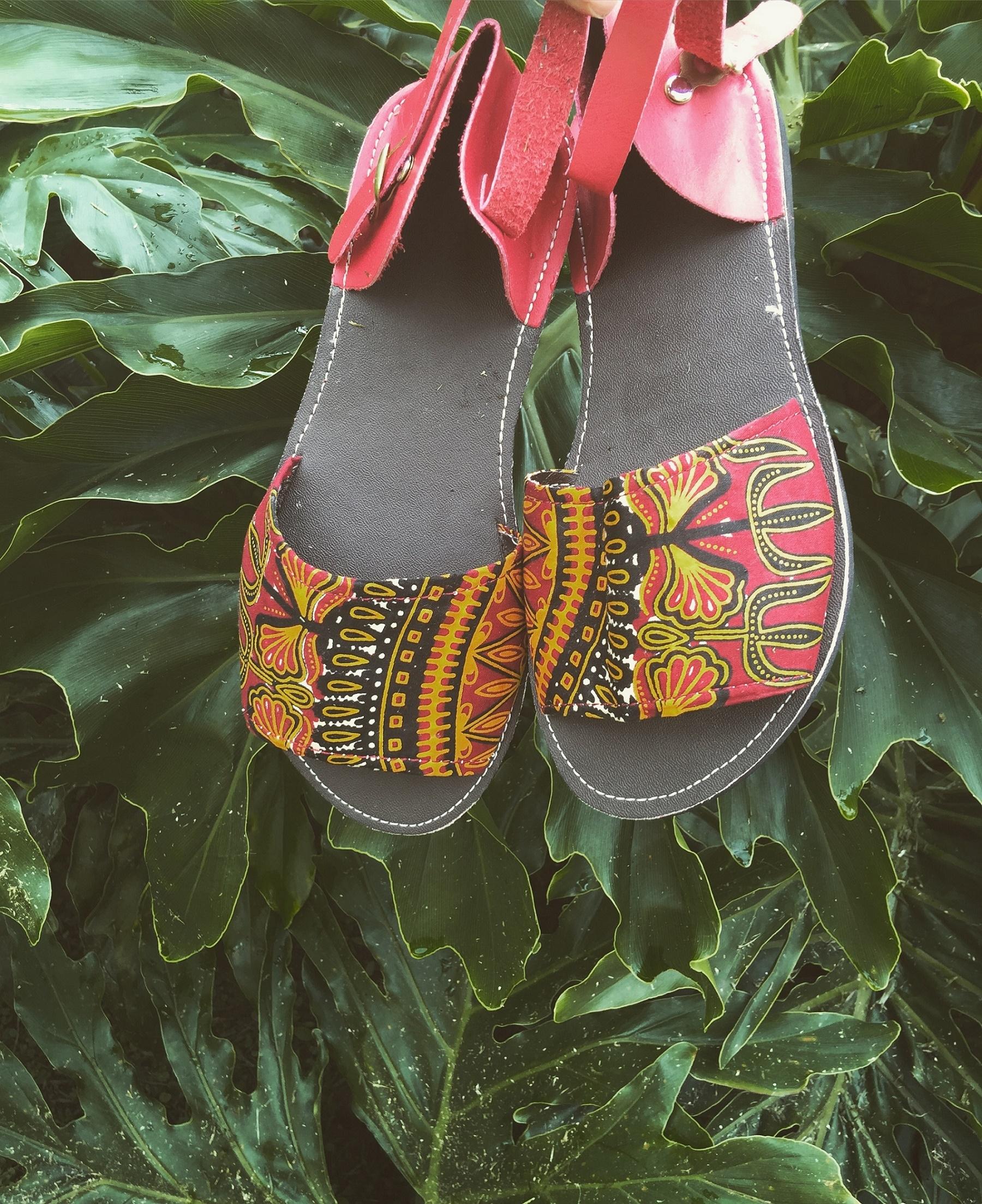 Ankara sandals